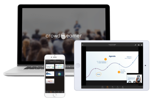 the crowdbeamer mobile app